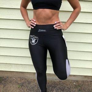 NFL Oakland Raiders Womens Compression Leggings XS